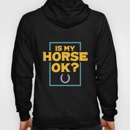 Is My Horse Ok? Riding product | Horsewoman Rider Tee Hoody