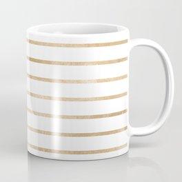 Modern geometrical gold yellow stripes pattern Coffee Mug