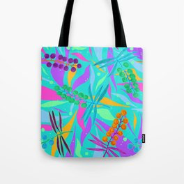 Turquoise Wattle Tote Bag