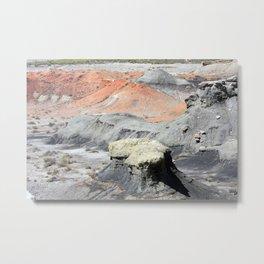 Color In The Badlands Metal Print