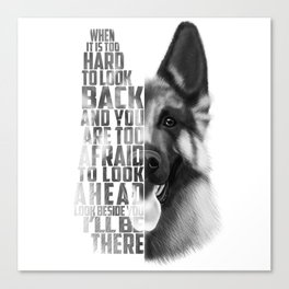 German Shepherd Quote Text Canvas Print