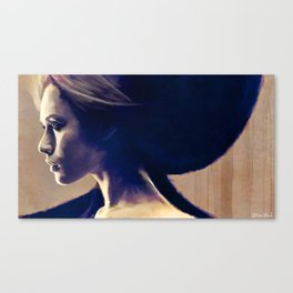 Portrait Of A Young Woman In Profile Canvas Print