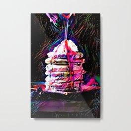 Portrait of Neon Pancakes Metal Print