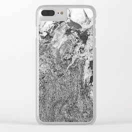 Marble Mountain Black and White I Clear iPhone Case