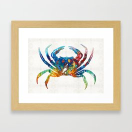 Colorful Crab Art by Sharon Cummings Framed Art Print