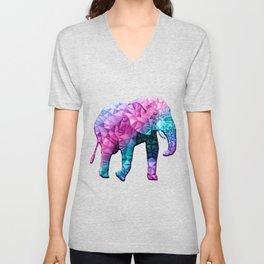 abstract elephant Unisex V-Neck