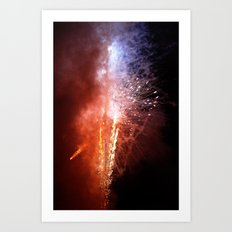 island fireworks Art Print