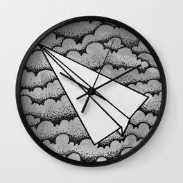 fly like paper Wall Clock