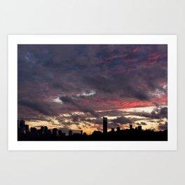 Sunset on September 17, 2016. XXI Art Print
