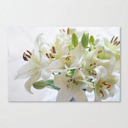 White Floral Canvas Print