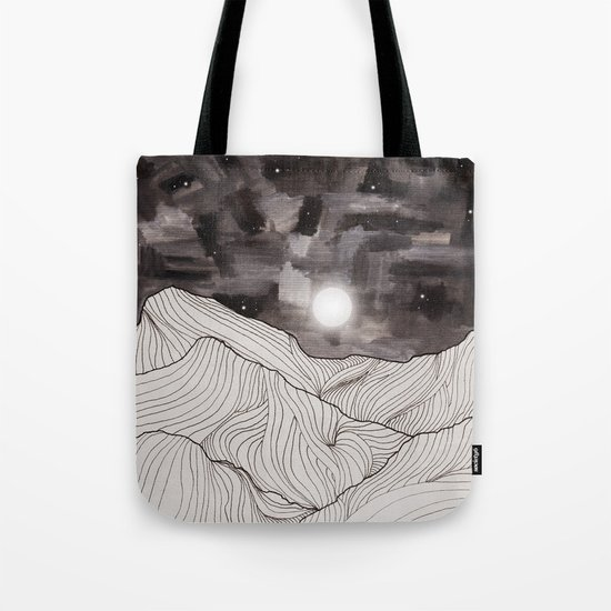 Lines in the mountains III Tote Bag