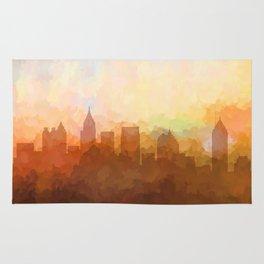 Atlanta, Georgia Skyline - In the Clouds Rug