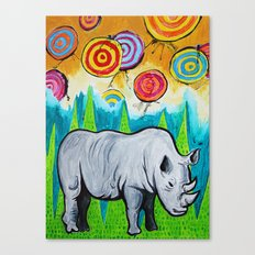 Rhino of the Land Canvas Print