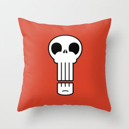 Long Skull Throw Pillow