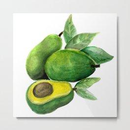 Avocado Green Metal Print