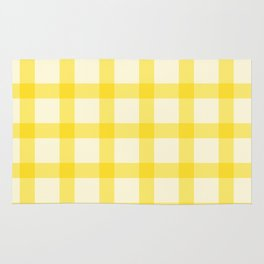 Yellow Lines Pattern Rug