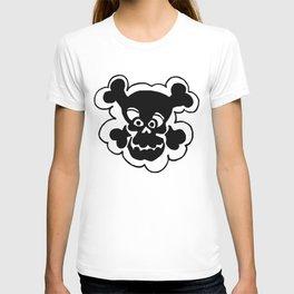Funny Skull  Black Gray T-shirt