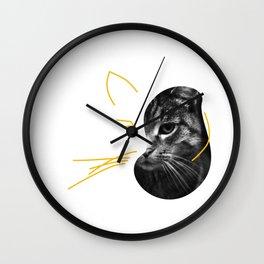 Gestalt Cat Wall Clock