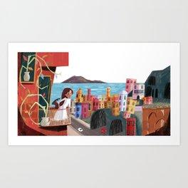 One Girl in Italy Art Print