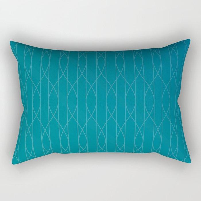 Wave pattern in teal Rectangular Pillow