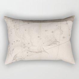 Johann Bayer - Uranometria / Measuring the Heavens (1661) - 32 Cetus / Whale Rectangular Pillow