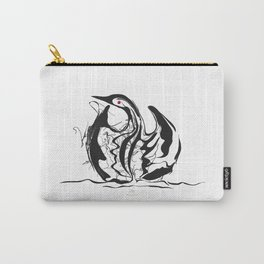 Swan-1. Black on white background-(Red eyes series) Carry-All Pouch