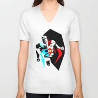 anonymous V-neck T-shirts featuring anonymous by Flo Zero
