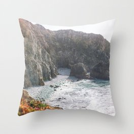 Seafoam Cliffs Throw Pillow