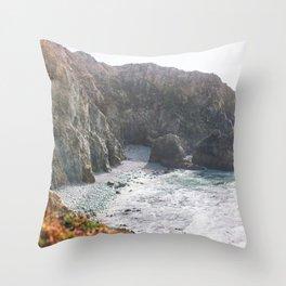 Seafoam Cliffs Throw Pillow