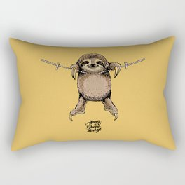 Hang in There Baby Sloth Rectangular Pillow