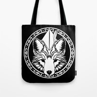 robin hood Tote Bags featuring Foxin Hood by AdamAether