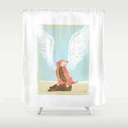 All Dogs Go to Heaven (Golden Retriever) Shower Curtain