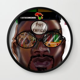 Kwanzaa King Wall Clock