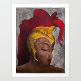 helmet of salvation Art Print