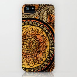 Sunburst Mandala Collage iPhone Case