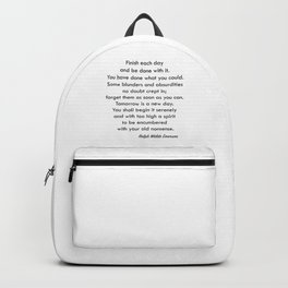 Finish Each Day Backpack