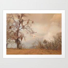 Fire Haze Art Print