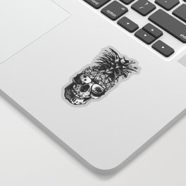Pineapple Skull Head Sticker