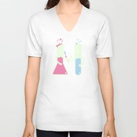 chemistry V-neck T-shirts featuring They Have Chemistry  by Jonah Makes Artstuff