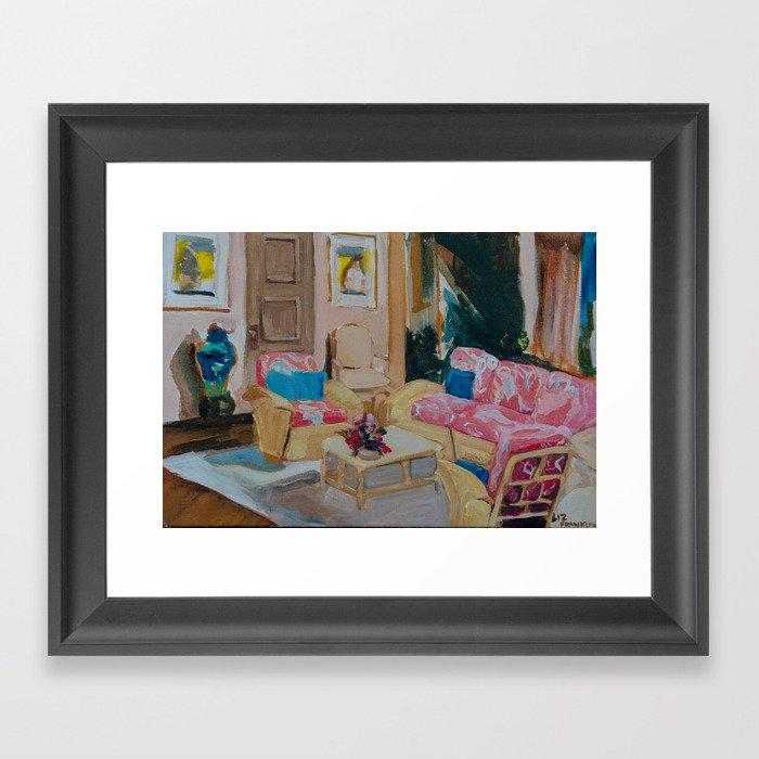 Golden Girls living room Gerahmter Kunstdruck