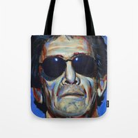 lou reed Tote Bags featuring Lou Reed by Buffalo Bonker