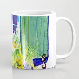 Window-box Watercolor Coffee Mug