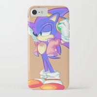 sonic iPhone & iPod Cases featuring Sonic by Bbycheese