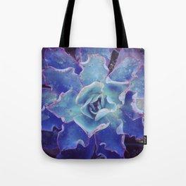 Blue Echeveria Tote Bag