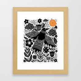 fly into the sun Framed Art Print