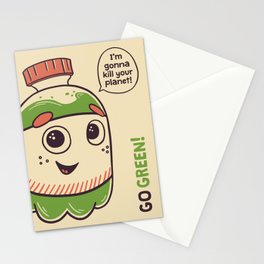 No to plastic bottles! Stationery Cards