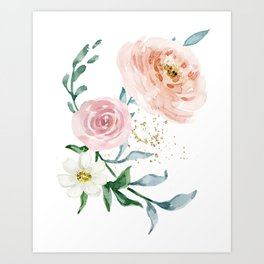 Rose Arrangement No. 1 Art Print