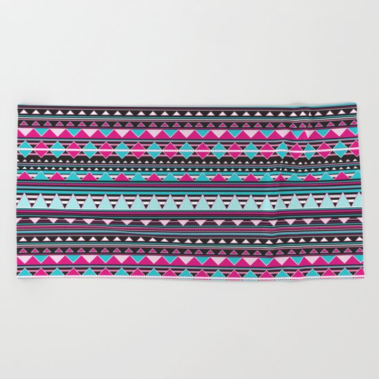 Aztec Stripes by Everett Co Beach Towel