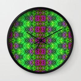 ZigZag Green Geodes Wall Clock