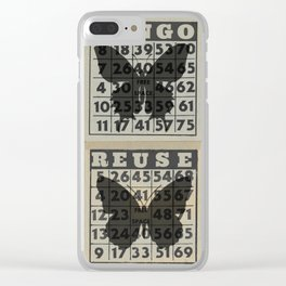 Reuse Re-purpose Recycle BINGO Clear iPhone Case